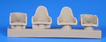 WWI German Wicker Seats w.seat belts (4 Stück) · CMK Q48232 ·  CMK · 1:48
