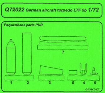 German aircraft torpedo LTF 5b · CMK Q72022 ·  CMK · 1:72