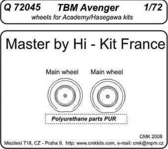 TBM Avenger - Wheels · CMK Q72045 ·  CMK · 1:72