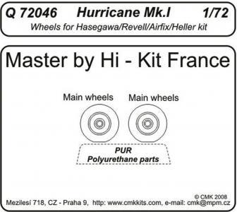 Hurrican Mk. I - Wheels [Revell/Hasegawa/Airfix/Heller] · CMK Q72046 ·  CMK · 1:72