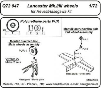 Lancaster Mk. I/III - Wheels [Hasegawa/Revell] · CMK Q72047 ·  CMK · 1:72