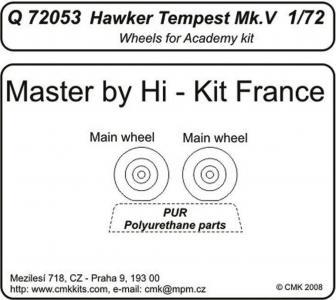Hawker Tempest Mk. V - Wheels [Academy] · CMK Q72053 ·  CMK · 1:72
