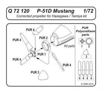P-51D Mustang - Corrected propeller · CMK Q72120 ·  CMK · 1:72
