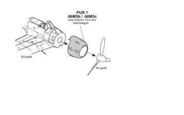 A6M5b/c Zero - Cowling with 13,2mm Machine · CMK Q72188 ·  CMK · 1:72