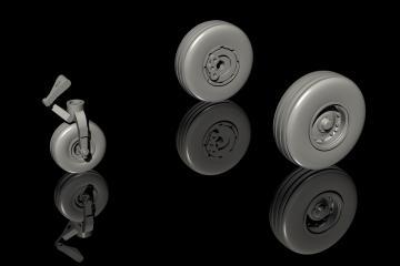 Tucano T1 - Wheels set  [Airfix] · CMK Q72285 ·  CMK · 1:72