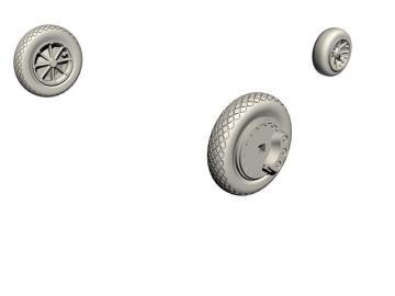 FH-1 Phantom - Main wheels and nose wheel [Special Hobby] · CMK Q72326 ·  CMK · 1:72