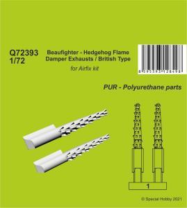 Beaufighter - Hedgehog Flame Damper Exhausts / British Type · CMK Q72393 ·  CMK · 1:72