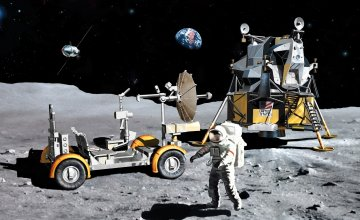 Apollo 17 The Last J-Mission CSM + LM + Lunar Rover · DR 11015 ·  Dragon · 1:72