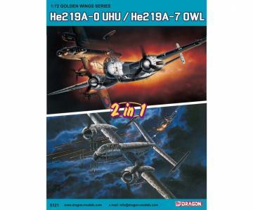 Heinkel He 219 A-0 UHU / Heinkel He 219 A-7 OWL (2in1) · DR 5121 ·  Dragon · 1:72