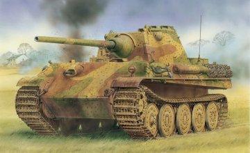 Panther F mit Gummiged. Stahllaufrollen · DR 6403 ·  Dragon · 1:35