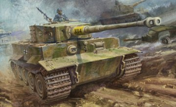 Pz.Kpfw.VI Ausf.E Sd.Kfz.181 Tiger I (Late Production) · DR 6406 ·  Dragon · 1:35