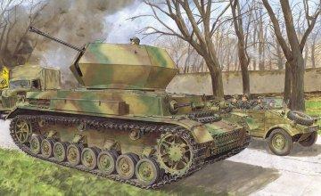 Flakpanzer IV Ostwind · DR 6550 ·  Dragon · 1:35