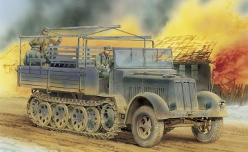 SD.KFZ.7 8T Half Track Late Production · DR 6562 ·  Dragon · 1:35