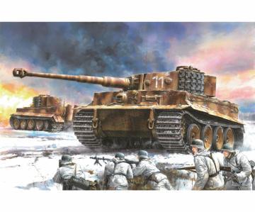 Tiger I Mid Prod. w/Zim.s.Pz.Abt.506 · DR 6624 ·  Dragon · 1:35