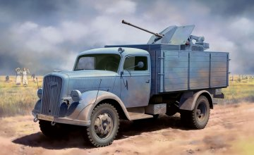 German 3t 4x2 Truck w/2cm FlaK 38 · DR 6828 ·  Dragon · 1:35
