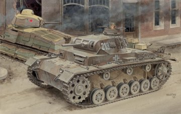 Pz.Kpfw.III Ausf.E/F (2in1) · DR 6944 ·  Dragon · 1:35