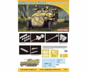 Sd.Kfz.251/7Ausf.C w/2.8cm sPzB41AT · DR 7315 ·  Dragon · 1:72