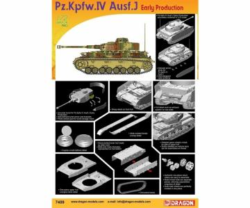 Pz.Kpfw.IV Ausf.J Early Production · DR 7409 ·  Dragon · 1:72