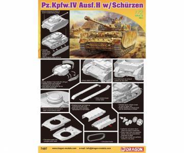Pz.Kpfw.IV Ausf.H w/Schurzen · DR 7497 ·  Dragon · 1:72