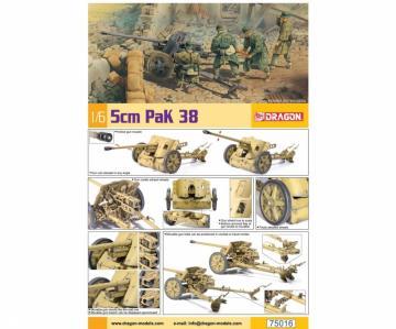 WWII 5cm Pak 38 · DR 75016 ·  Dragon · 1:6