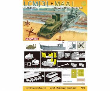 LCM(3) + M4A1 Sherman w/ DeepWadingKit · DR 7516 ·  Dragon · 1:72