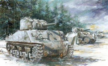 Sherman M4A3 (105mm) VVSS · DR 7569 ·  Dragon · 1:72