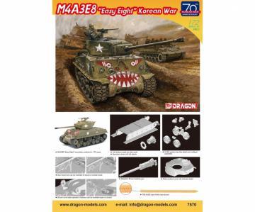 M4A3E8 Easy Eight - Korean War · DR 7570 ·  Dragon · 1:72