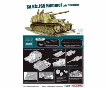 Sd.Kfz.165 Hummel Late Prod.w/NEO T · DR 7628 ·  Dragon · 1:72