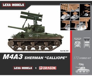 M4A3 Sherman Calliope · DR 7677 ·  Dragon · 1:72