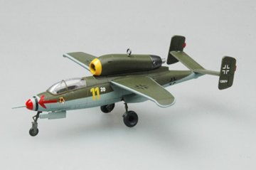 He.162A-2(W.Nr.120074)3./JG1, May 1945 · EZM 36347 ·  Easy Model · 1:72