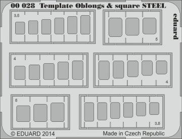 Template oblongs & square STEEL · EDU 00028 ·  Eduard