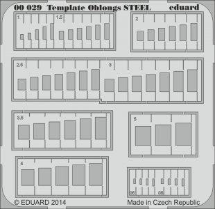 Template oblongs STEEL · EDU 00029 ·  Eduard