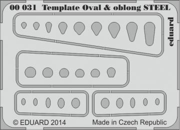 Template ovals & oblong STEEL  · EDU 00031 ·  Eduard