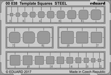 Template Squares STEEL · EDU 00038 ·  Eduard