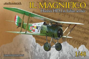 IL MAGNIFICO Hanriot HD.I in Italian service - Limited Edition · EDU 11139 ·  Eduard · 1:48