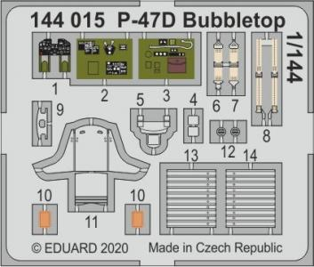 P-47D Bubbletop [Eduard] · EDU 144015 ·  Eduard · 1:144