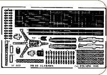 Schlachtschiff USS Alabama [Hasegawa] 4608 · EDU 17002 ·  Eduard · 1:700