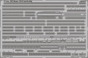 RN Roma 1943 battleship [Trumpeter] · EDU 17035 ·  Eduard · 1:700