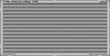 Chain bar railings · EDU 17036 ·  Eduard · 1:700