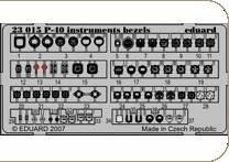 P-40  instrumetnts bezels S.A. · EDU 23015 ·  Eduard · 1:24