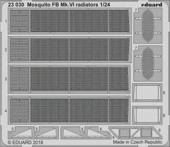 Mosquito FB Mk.VI - Radiators [Airfix] · EDU 23030 ·  Eduard · 1:24