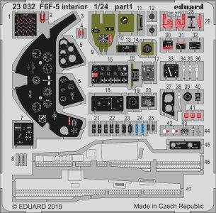 Grumman F6F-5 Hellcat - Interior [Airfix] · EDU 23032 ·  Eduard · 1:24