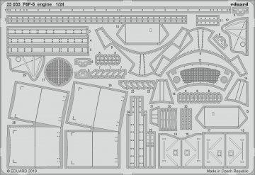 Grumman F6F-5 Hellcat - Engine [Airfix] · EDU 23033 ·  Eduard · 1:24
