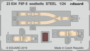 Grumman F6F-5 Hellcat - Seatbelts STEEL [Airfix] · EDU 23034 ·  Eduard · 1:24