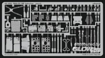 MiG-21 MF - Interior set [Trumpeter] · EDU 32055 ·  Eduard · 1:32