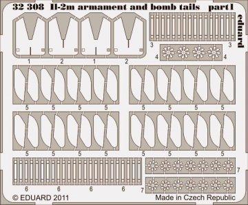 Il-2m - Armament and bomb tails [HobbyBoss] · EDU 32308 ·  Eduard · 1:32