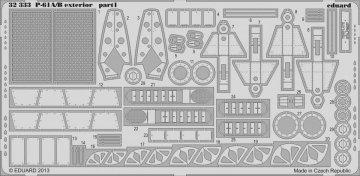 P-61 A/B - Exterior  [HobbyBoss] · EDU 32333 ·  Eduard · 1:32