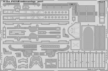 P-61A/B - Undercarriage [HobbyBoss] · EDU 32334 ·  Eduard · 1:32