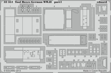 Messerschmitt Bf 109 - Tools and boxes · EDU 32351 ·  Eduard · 1:32