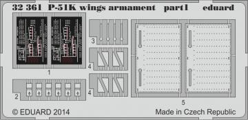 P-51K - Armament [Dragon] · EDU 32361 ·  Eduard · 1:32